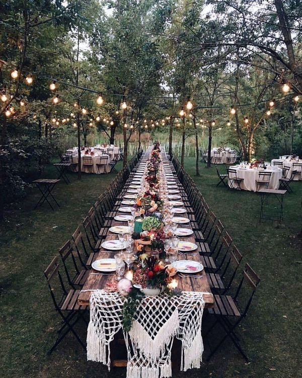 Lovely Diy Backyard Wedding Ideas On A Budget To Refresh Your Garden Rustic Wedding Table Rustic Wedding Table Runners Outdoor Wedding