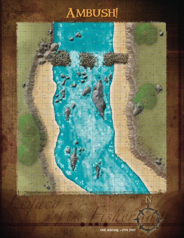 Overworld Water Ambush Battle Map from Cartographersu0027