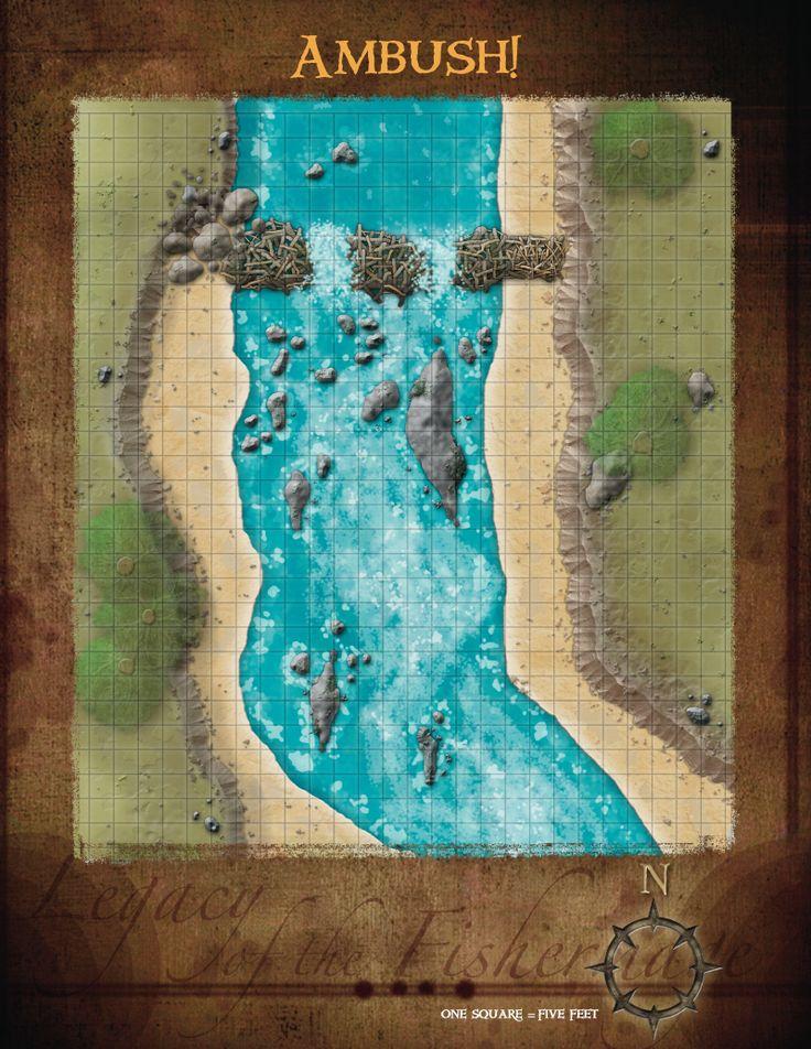 Overworld, Water Ambush Battle Map from Cartographers' Guild