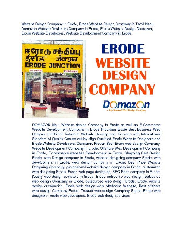 Website Design Company in Erode Domazon Website Development Company in Tamil Nadu India