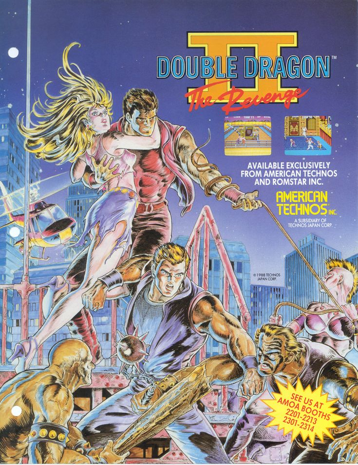 Double Dragon II The Revenge Tv tropes, Retro arcade