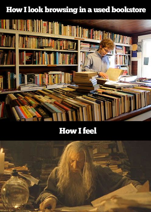 Whenever I go to a used bookstore…