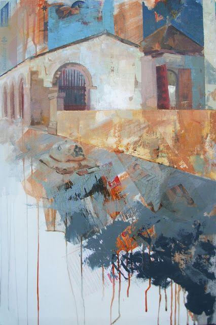 Urbana Rustica XXXVI - Puerta de los Silos - Burjassot. Collages + Acrílico.  90 x 60 cm.