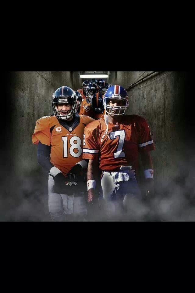 Denver Broncos #7 Elway and #18 my two favorite Quarterbacks of all time