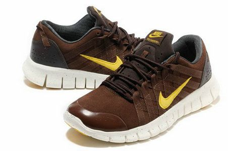 Mens Nike Free Powerlines Suede Brown Gold