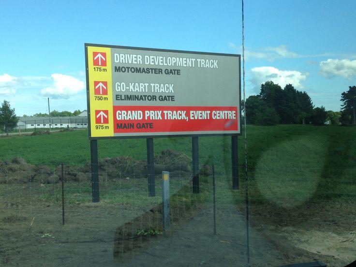 Directional billboard go kart go kart tracks billboard