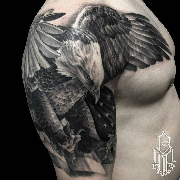"Ink Sav on Instagram: ""Happy 4th of July! American Bald Eagle piece by @dustinyip #blackandgray #tattoo #ink #tattoolife #inklife #supportart #support #artists #worldwide #lifestyle #inksav _____"""