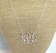 Sterling Silver Initial Necklace, Monogram Necklace, Silver Monogram Necklace, Personalized Jewelry, Women's Monogram Necklace, Jewelry by SerenityoftheSouth on Etsy