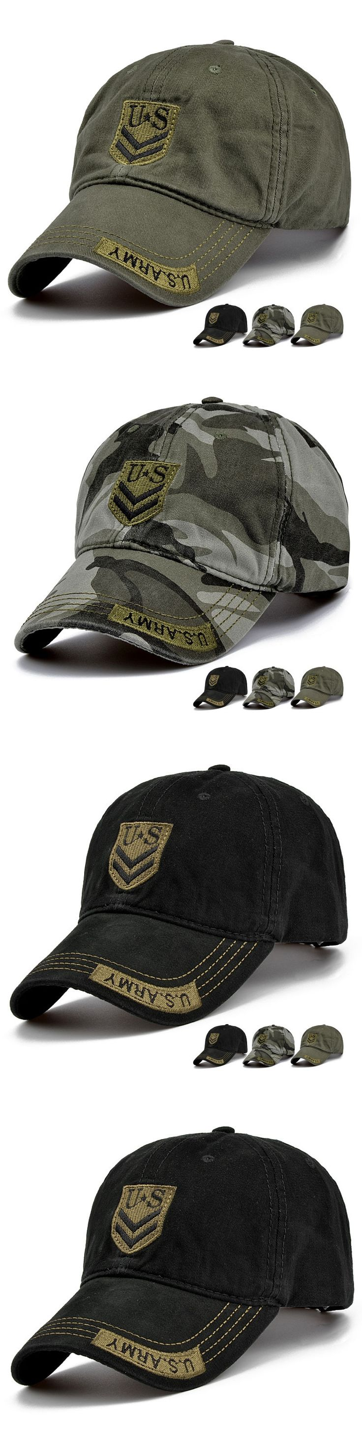 2017 camouflage baseball cap US army snapback Hat for men cap women curved peaked caps 20 colors
