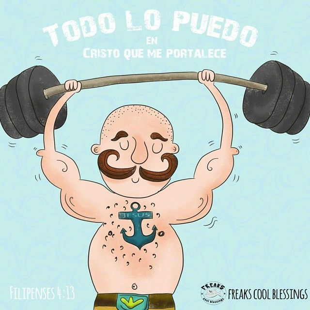 I can do everything trhough Christ  who makes me strong. #ilustracion #illustration #strong #drawing #man