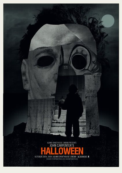 john carpenters halloween mondo poster from 2009 - Halloween Mondo Poster