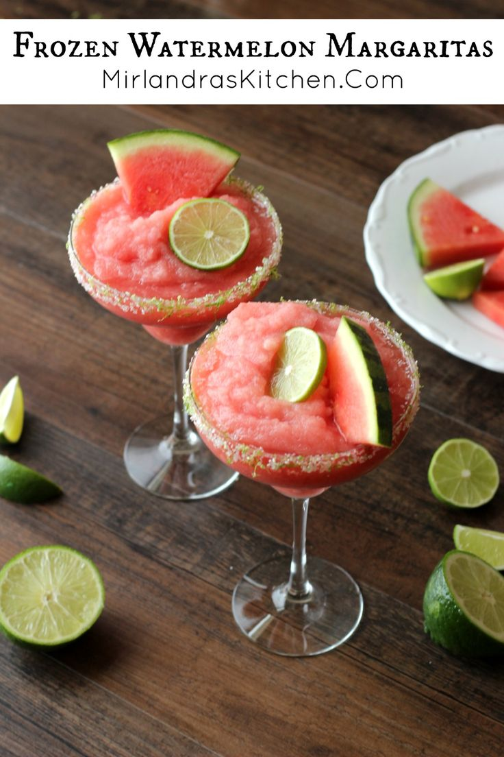 Refreshing and delicious, this Frozen Watermelon Margarita is my favorite summer drink. It is the perfect blend of tequila, sweet watermelon and tangy lime.