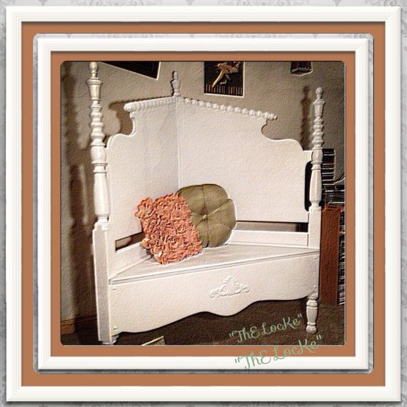Repurposed Headboard BenchThE Panchina BiaNca by ThELocKe on Etsy, $200.00