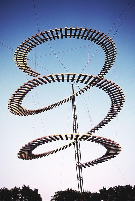 ADAM KALINOWSKI, SKY REACHING RAILWAY TRACK on ArtStack #adam-kalinowski #art