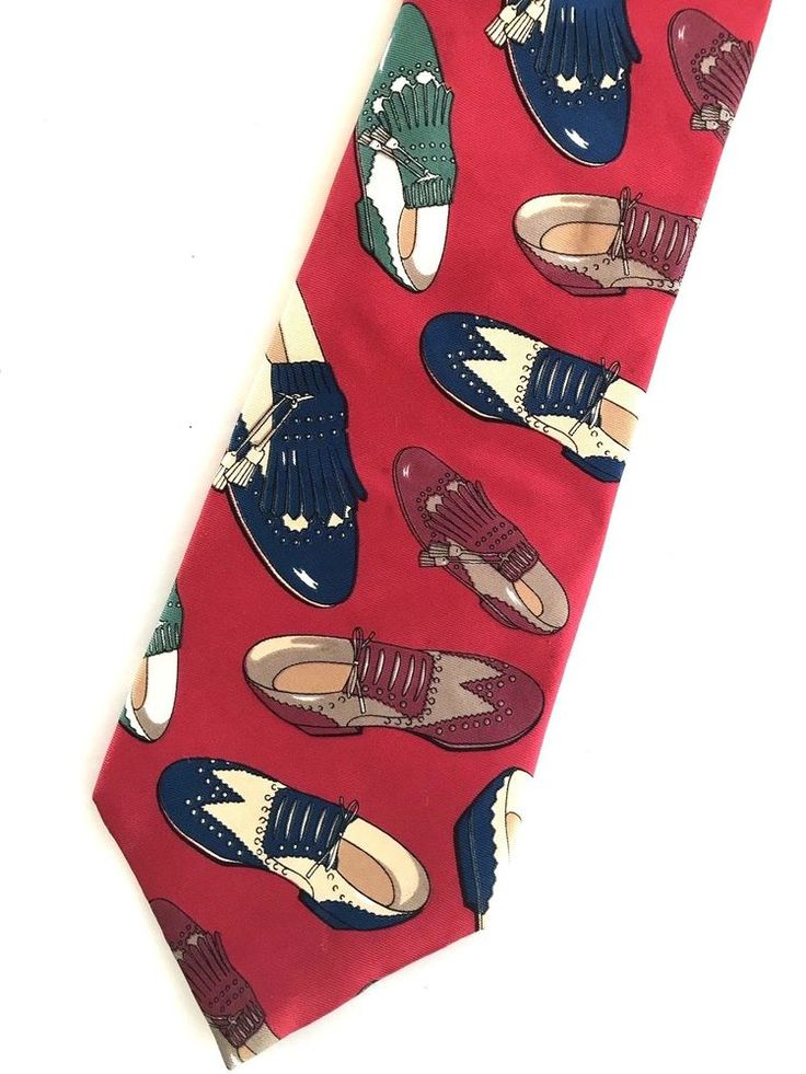 Shoe Lovers Tie,Red Novelty Tie,Men's Saddle Shoes,Silk,Fashion Lover Tie #JTBeckett #Tie