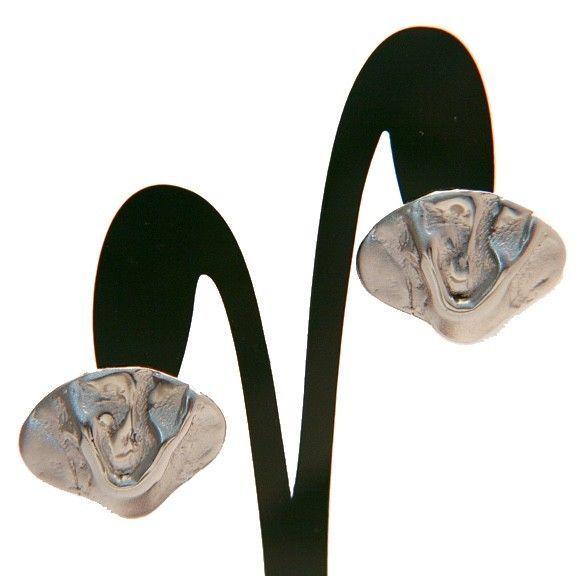 Classic BERGERE signed shiny silvertone clip earrings vintage retro wedding  | eBay