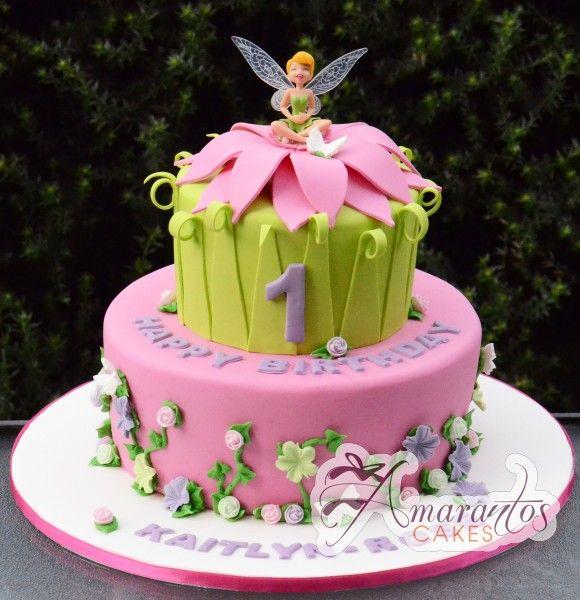 Two tier Fairy Cake- AC229 - Amarantos Cakes www.amarantoscakes.com.au