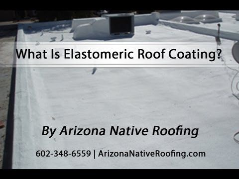 Elastomeric coating is a rubberized roof paint. It protects from the Sun. We're elongating the life out on an existing roof. This roof being foam, which we put elastomeric coating on all foam roofs, but you can put it on any type of roof surface and get a longer life out of your roof or maintain the existing roof without having to put a new roof on. #ElastomericRoofing #RoofRepair #Roofing