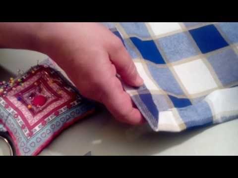 Como hacer esquina de servilleta en inglete - YouTube