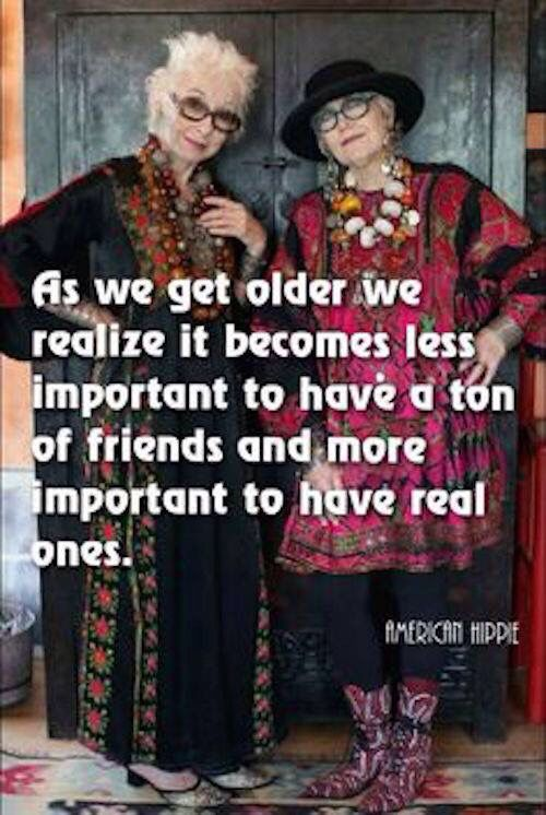 Baby Boomer Women | Quote |  Having friends