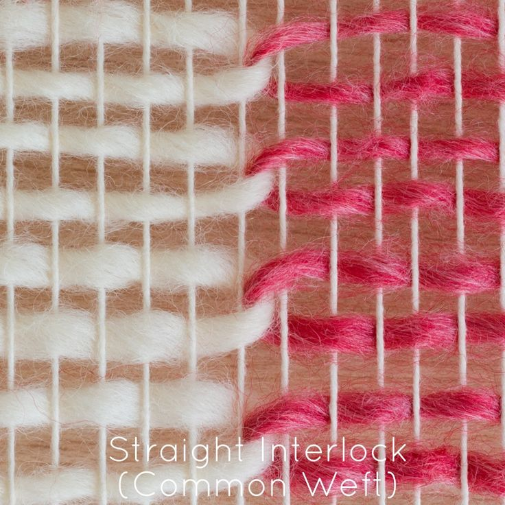 Loom & Spindle - Weaving Techniques - Straight Interlock Common Weft