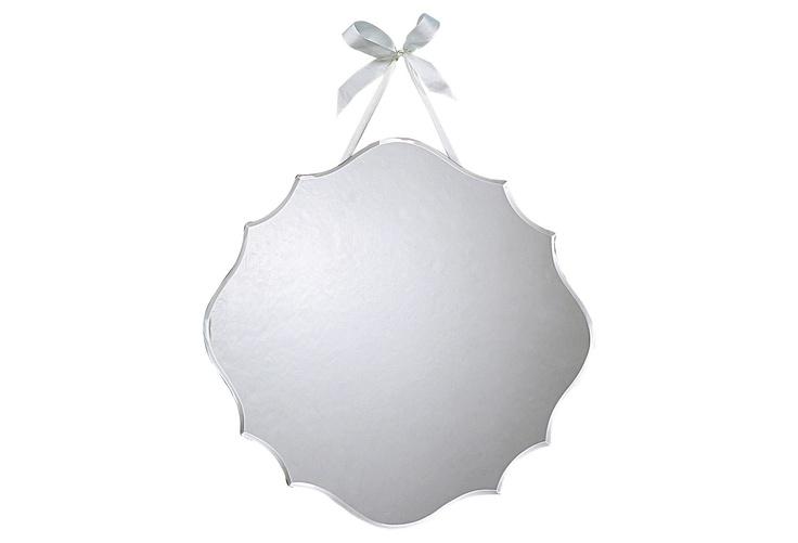 One Kings Lane - Wake Up Your Walls - Beveled Mirror w/ Ribbon $22