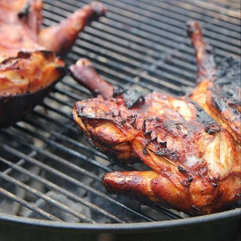 Pollo al Carbon: achiote-marinated grilled chicken. This is the most delicious grilled chicken recipe on the planet. Not kidding.
