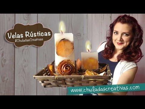 Velas Rústicas ideal Para Mamá DIY :: Chuladas Creativas - YouTube