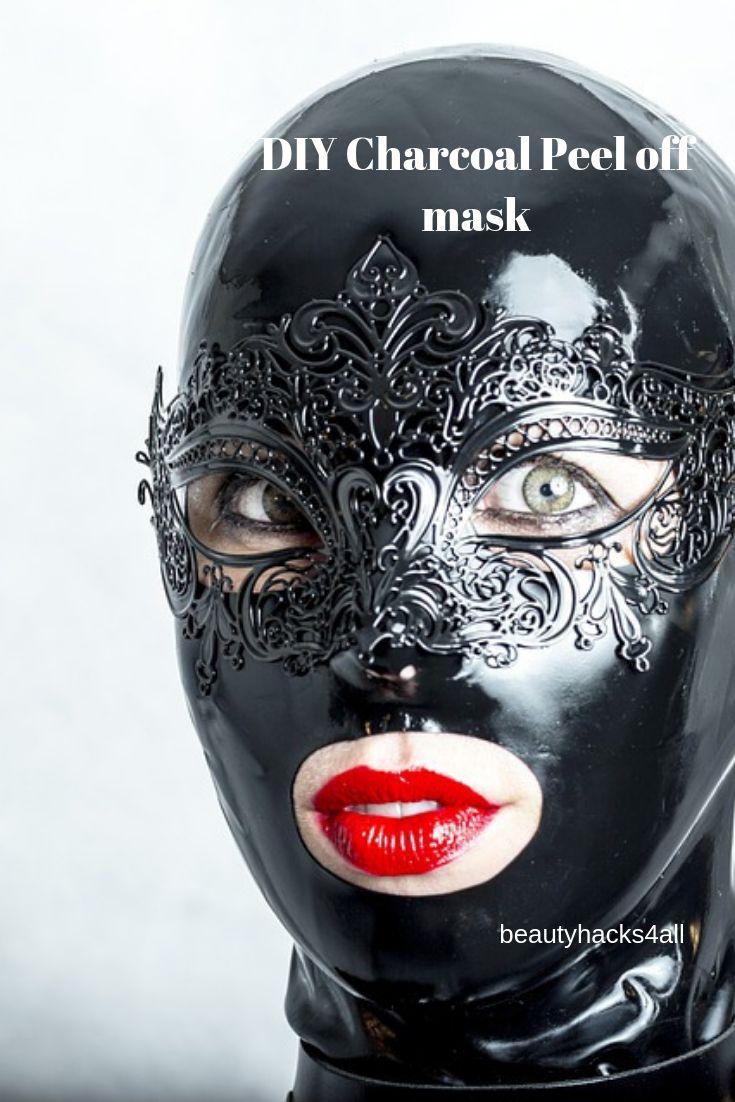 Make Charcoal Peel off mask at home
