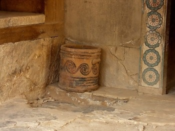 Knossos - Greece...... pottery was found in abundance at the site.