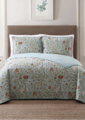 Style 212  Bedford Blue King Quilt Set - Blue Group - King