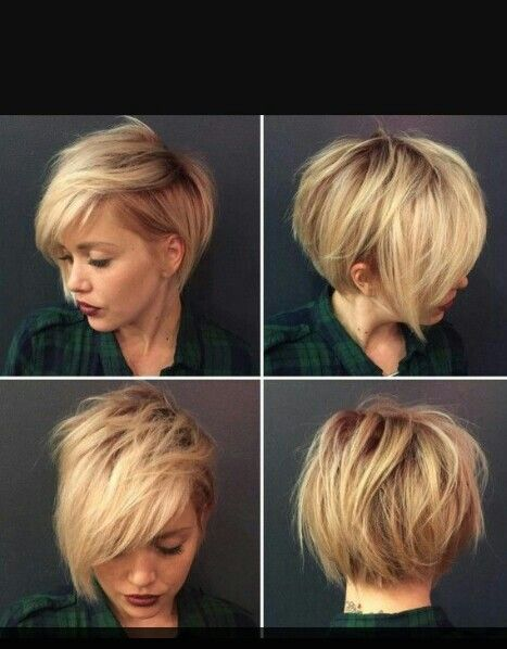Short blonde asymmetrical hair from all angels.