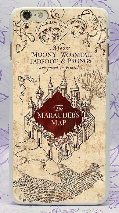 Details about Harry Potter Marauders Map Pattern Case Cover For iPhone 5 6 7 8 Plus Samsung S8