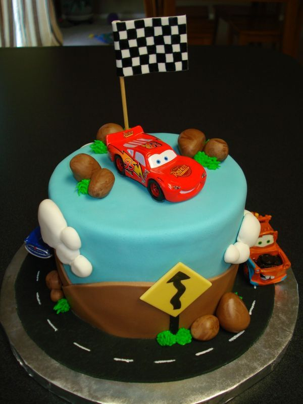Cars birthday cake possibility.