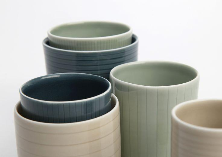Susan Frost - Hand incised porcelain vessels, 2014