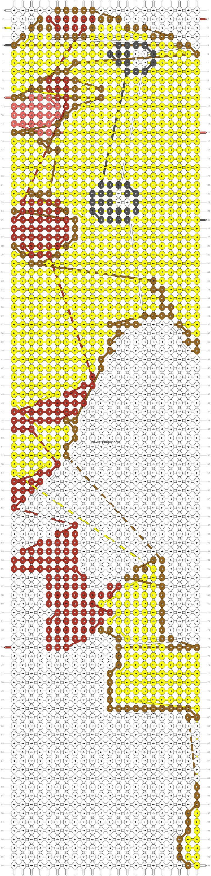 Alpha Friendship Bracelet Pattern Added By Pokemon, Pikachu, Gamer, Cute,  Animal
