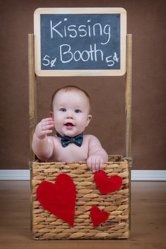 Baby kissing booth