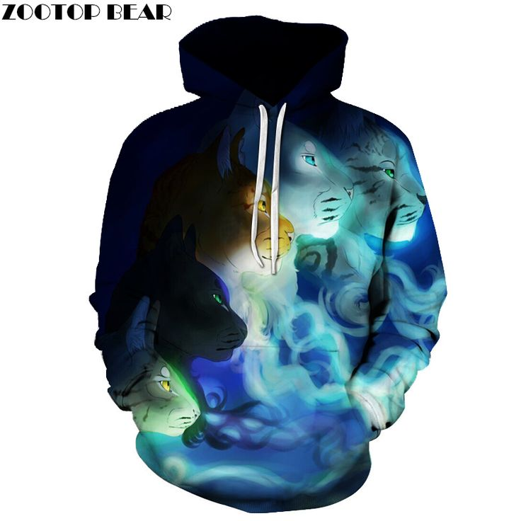 2017 Men Hoodies Tiger 3D Print High Quality Mens Casual Outwear Clothing Couple Tracksuits Pocket Hoodies Sweatshirts