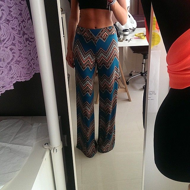Giulia S high waisted pants in aztec print one of our favs #giuliashandmadeclothing#handmadeingreece#highwaistedpants#aztecprint#printseverywhere#newbrand#newdesigner AW 14-15 collection  available!!!!