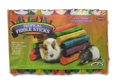 SMALL ANIMAL - CHEWS & TREATS - TROPICAL FIDDLE STICKS MEDIUM - - CENTRAL - SUPER PET/PETs INTL - UPC: 45125604252 - DEPT: SMALL ANIMAL PRODUCTS