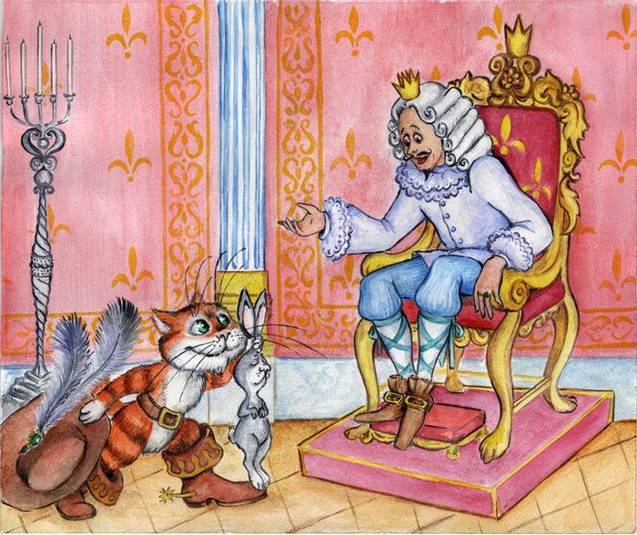 Гиф, картинки кота в сапогах из сказки шарля перро рисунок