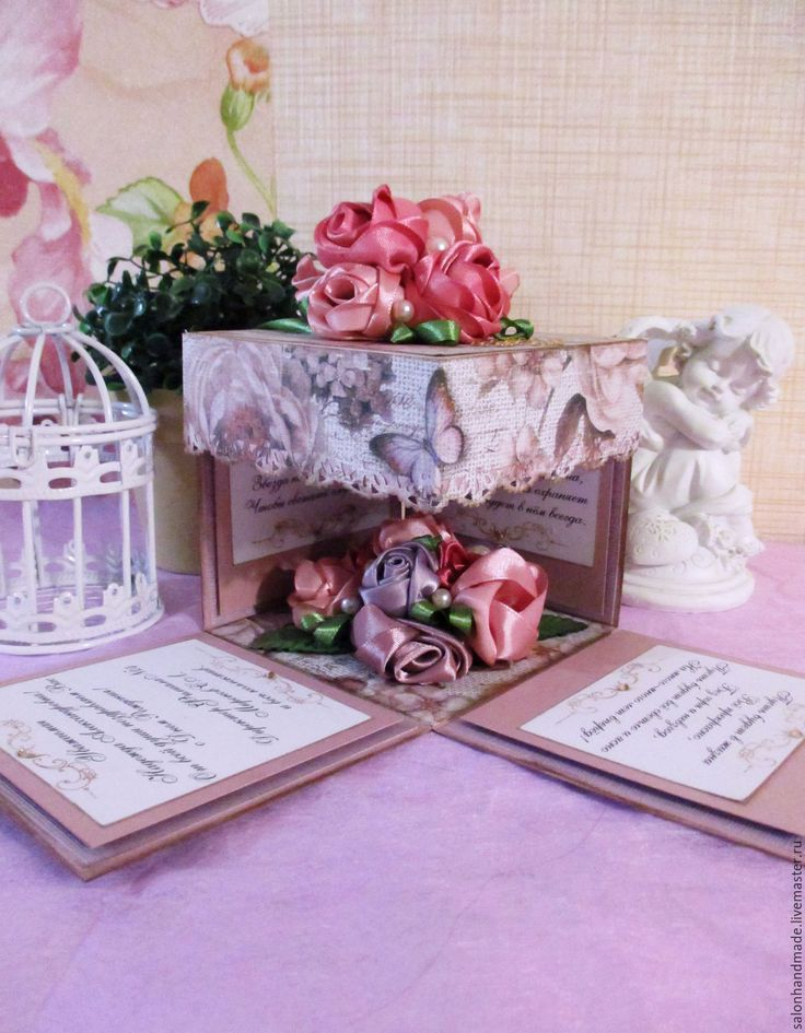 "magic box, коробочка открытка ""Розовые розы"" - salon-handmade Викуловой Кристины - Ярмарка Мастеров http://www.livemaster.ru/item/17545701-otkrytki-magic-box-korobochka-otkrytka-rozovye-rozy"