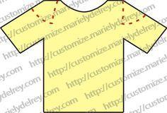 10 tipos de cortes para você customizar uma camiseta, veja como cortar a camiseta para transformar o modelo da camiseta.