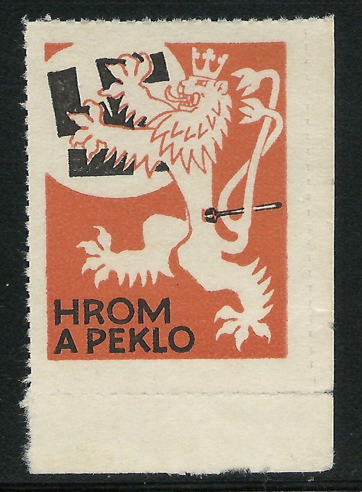 CSR 1945 Praha-Preissig Scarce Hrom a Peklo Liberation Vignette Stamp