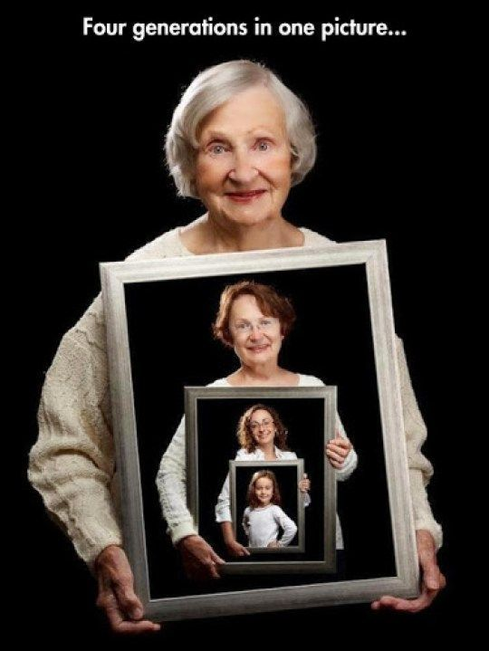 Four Generations in One picture - Barbie Bieber and Beyond