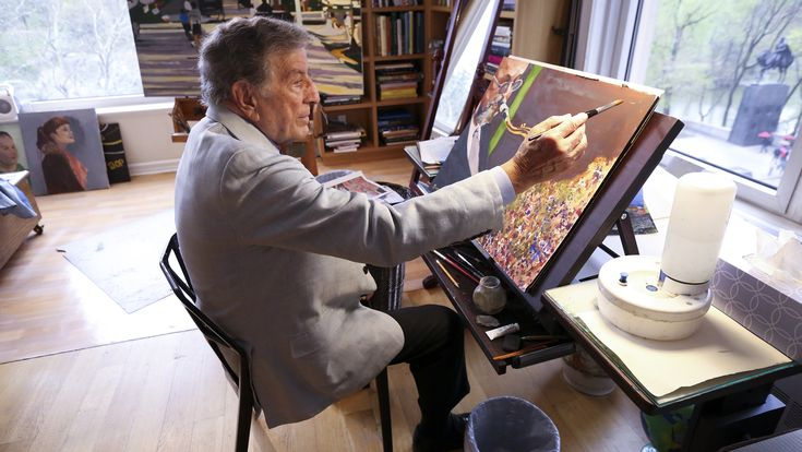 Wow, Tony Bennett can paint! See the singer's art studio and works