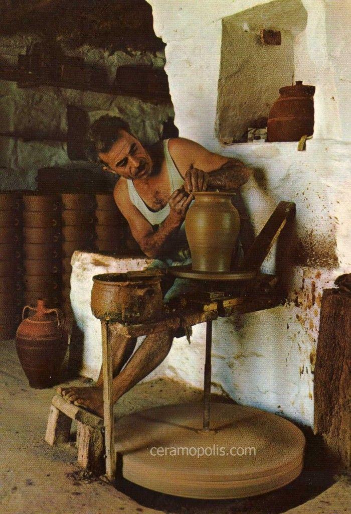 Sifnos Potter 20th - Παραδοσιακά Κεραμικά Σίφνος (Αγγειοπλάστης στον Τροχό)