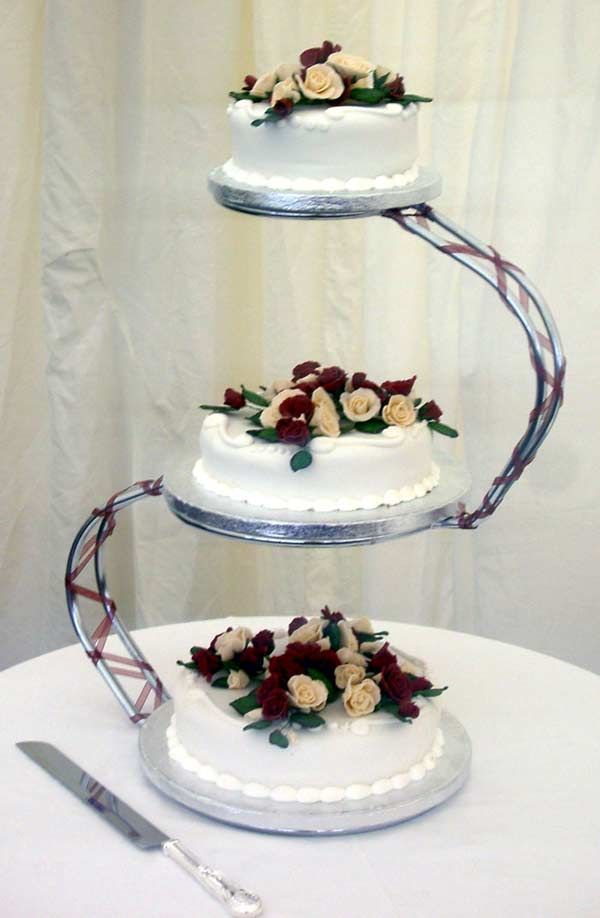 multiple wedding cake display | tier wedding cake Make An Impression To Your Guests With 3 Tier Cake ...