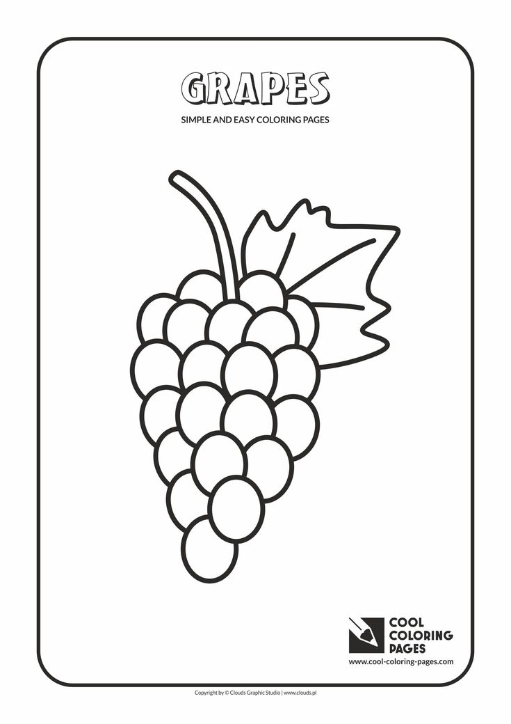 Simple and easy coloring pages for toddlers - Grapes