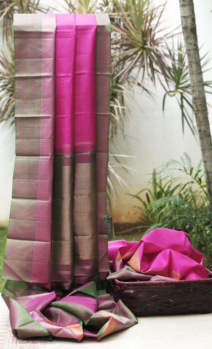 Lakshmi Handwoven Kanjivaram Silk Sari 000185 - Sari / All Saris - Parisera